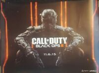 Double-sided Promo Poster : Call of Duty COD Black Ops III Activision 2015 Rare
