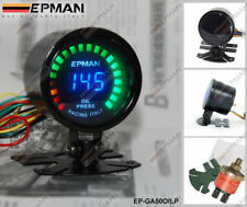 "EPMAN RACING 52 mm 2"" LED ANALOGICO DIGITALE DI PRESSIONE PRESS Gauge Meter W Sensore"