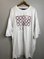 Vintage Coogi  Tee shirt Size 5XL White Crew Neck Short Sleeve