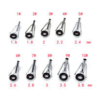 80pcs 10Sizes Steel Fishing Rod Pole Guide Tip Top Ring Eye Repair Kit Black LJ
