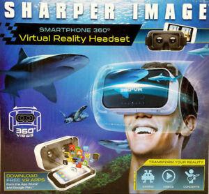 Sharper Image Smartphone 360 Degree Virtual Reality Headset - White