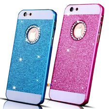 Apple iPhone 5 5S Luxury Bling Glitter Crystal Back Case Cover Blue & Pink