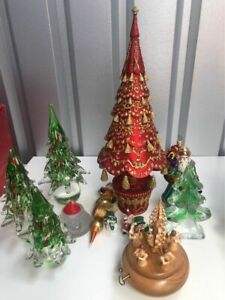 Set of Christmas Ornaments with Music Box