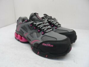 Nautilus Women's Steel-Toe EH Athletic Work Shoes N1851W Grey/Pink Size 7.5W