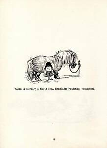 1965 Original Funny Thelwell Horse Pony Vintage Art Cartoon Print