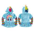 Baby Girls My Little Pony Hoodie Zip Up Jacket Jumper Ear Mane Wing Size 0-8Y