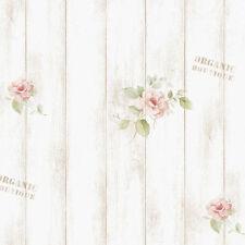 Whiterwash Wood Panel Contact Paper Shabby Chic Vinyl Self Adhesive Wallpaper