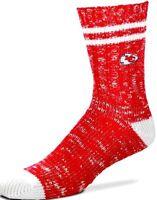 For Bare Feet Kansas City Chiefs, Large Official NFL Mens Flag Promo Crew Socks 10-13