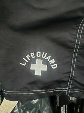 Water Safety Products Mens M  Black Swim Cargo Trunks (LIFE GUARD) - made in USA
