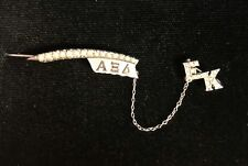 Alpha Xi Delta Sorority Pin, Epsilon Kappa Chapter, 10K White Gold, 4.7g