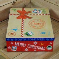Christmas Eve Gift Box Decoration Flat Pack Xmas Party Festive Kids Fun 45x34cm