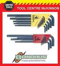 BONDHUS 20199 22pce METRIC & A/F LONG ARM BALL END HEX ALLEN KEY SET
