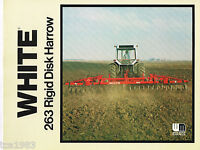 WHITE Agricultural 263 Rigid Disk Harrow Brochure / Catalog / Ad