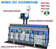 Custom Lego Modular Building Instruction Set Bowling Alley with Sticker Set