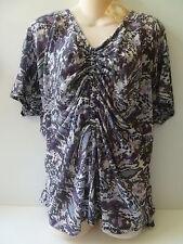NEW Women's EYESHADOW Purple White Gray Top size 2X