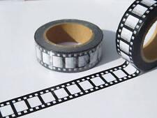 Cámara de Carrete de Película Película Retro Papel Washi Cinta 15 Mm x 10 metros rollo libre de Reino Unido P&p