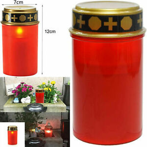Solar Grave Candle for Cemetery Grave AA Battery with Lighting LED Grave Light