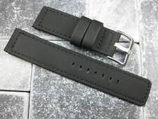 20mm Black PVC Composite Rubber Diver Strap Watch Band Seamaster Maratac 20