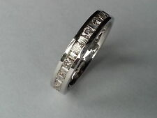 1ct ROUND & BAGUETTE CUT DIAMOND FULL ETERNITY WEDDING RING BAND,950Platinum