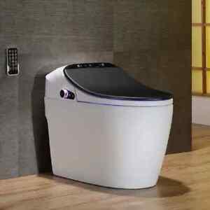 Smart Home Bathroom One-Piece Floor Mounted Elongated Toilet Bidet with Seat