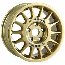 4 x Speedline Corse Gold Type 2118 Alloy Wheels | 15x7 Inch | ET53 | 5x100 PCD