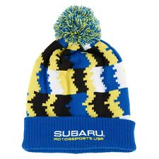 Subaru Logo Pattern Pom Beanie Cap Hat STI Ascent Forester WRX Outback Official