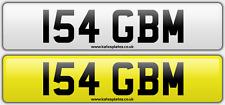 154 GBM Martin Morgan Dateless Personalised Registration Cherished Number Plate