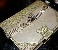 Italian Art Deco Style Gate Bracelet  Sterling Silver