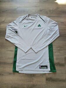 Nike Boston Celtics Authentic Warm Up Shirt RARE 896414-007 Mens Size Large TALL