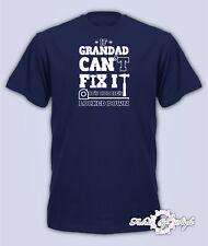 If Grandad Can't Fix It Quarantine Lockdown Fathers Day 2020 Mens T-Shirt Navy