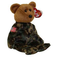 TY Beanie Baby - HERO the USO Military Bear (w/ US Flag on Arm) (8.5 inch) MWMTs