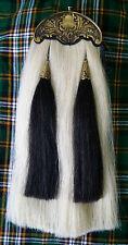 Cornemuse piper kilt sporran/scottish white horse hair kilt sporran antique troussequin