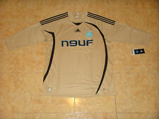 Olympique Marseille Soccer Jersey Adidas Football Shirt Gold 3/4 Sleeves Maillot