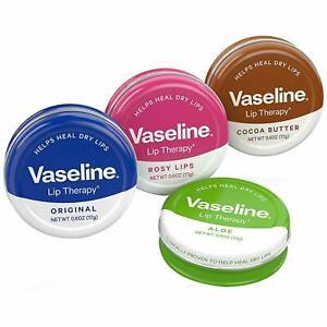 3 x Original Vaseline Lip Therapy LIP Balm Petroleum Jelly 20g Pocket Size Pots