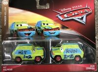 "Disney Pixar Cars 2019 HIT GOLPEAR & RUN CORRIDA ""Thunder Hollow"" 2-Pack"