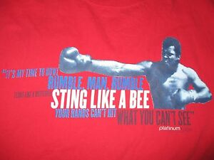 """MUHAMMAD ALI """"Rumble, Man Sting Like a Bee Your Hands Can't Hit"""" (2XL) T-Shirt"""