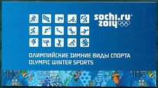 RUSSIA 2014 Booklet Olympic Winter Games in Sochi. Winter Olympic Sports MNH
