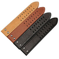 22mm Leather Watch Strap Band Pilot Stitching Compatible With Hamilton Buckle