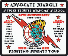 STRIKE FIGHTER WEAPONS SCHOOL 30TH ANNIVERSARY PVC (SOFT RUBBER) PATCH