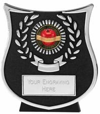 Emblems-Gifts Curve Silver Slimming Plaque Trophy With Free Engraving