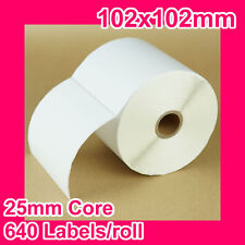 16 rolls of 102x102mm Thermal Direct Label for Zebra/TSC/SATO/DATA MAX/Intermec
