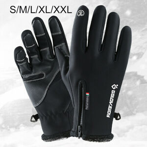 Women Gloves Winter Warm Windproof Waterproof Black Cycling Skiing Hiking