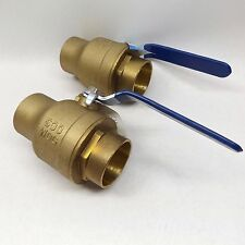 "LOT OF 2 DURAPRO 109920 BALL VALVE FULL PORT 2"" C X C"