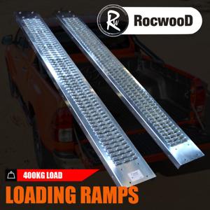 Steel Loading Ramps 400KG 1.6 Metre Trailer Van Truck Motorbike Ride On Mower