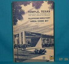 1966 TEMPLE TEXAS Southwestern Bell Telephone Directory with Yellow Pages