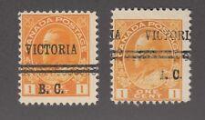 """CANADA PRECANCEL """"VICTORIA"""" 1-105, 105d"""