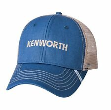 Kenworth Motors Trucks Slate Blue & Tan Mesh SnapBack Trucker Cap/Hat