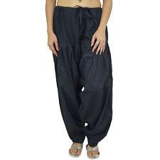 Black Cotton Bottom Wear Ethnic Adjustable Salwar Indian Women Clothing DS104F
