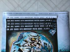 San Jose Sharks 25th Anniversary Complete Poster Set (Total of 6 Posters)
