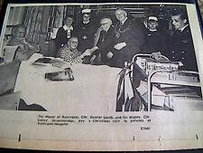 67-3  ephemera 1974 picture ramsgate mayor george smith ramsgate hospital xmas